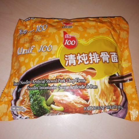 "#1605: Unif 100 ""Instant Noodles - Artificial Stewed Pork Chop Flavor"""