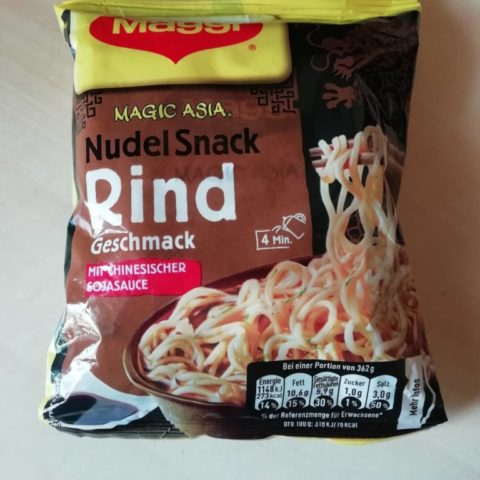 "#1611: Maggi Magic Asia ""Nudel Snack Rind Geschmack"" (2019)"