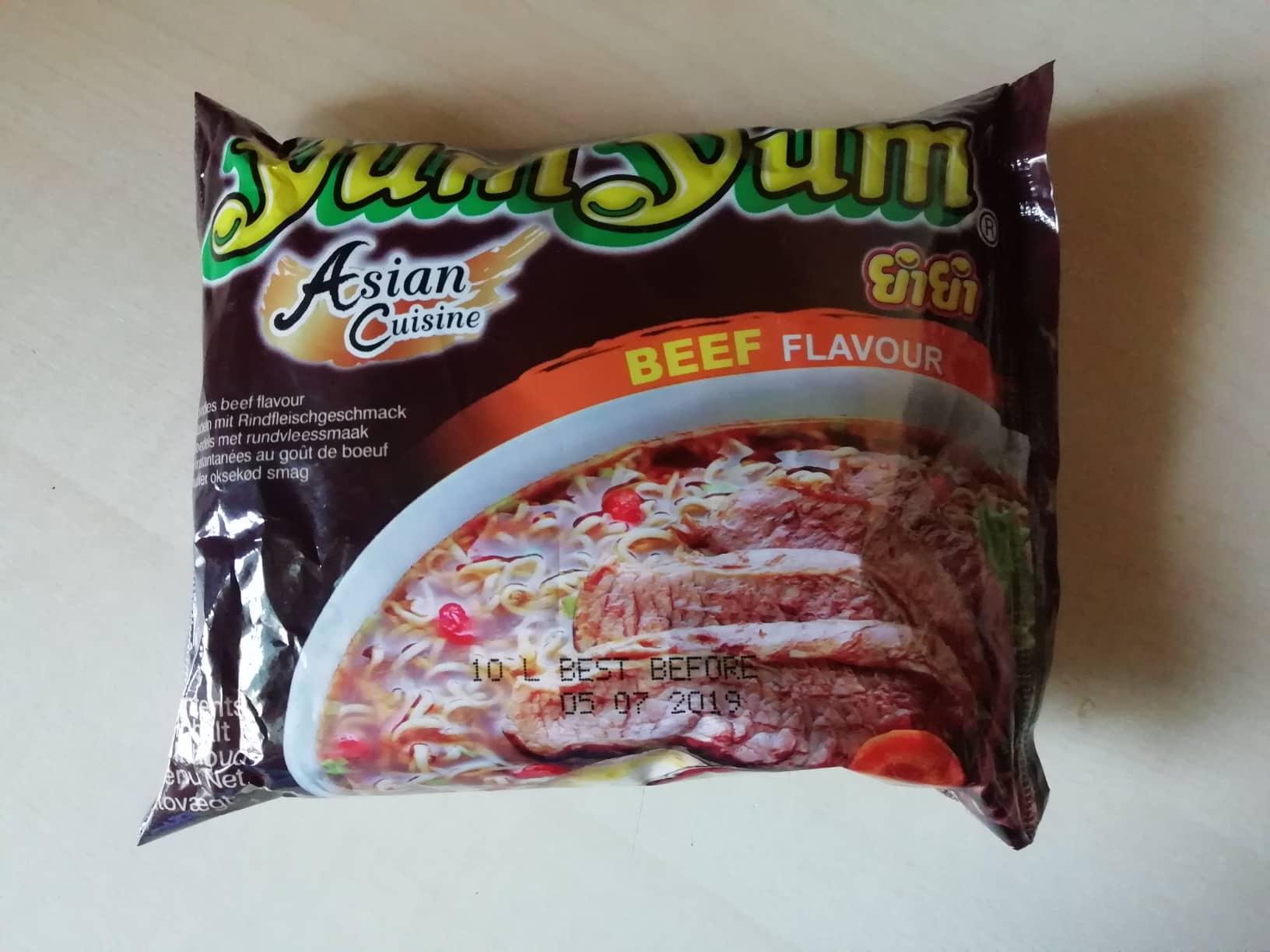 "#1610: YumYum Asian Cuisine ""Instant Noodles Beef Flavour"""