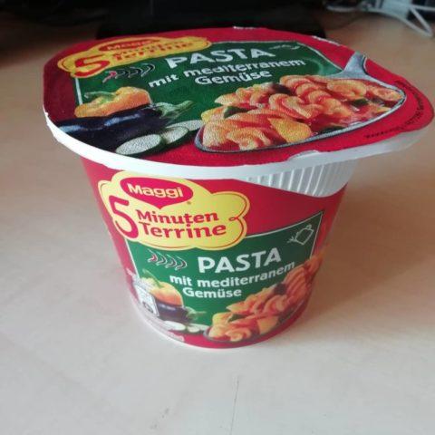 """#1623: Maggi 5 Minuten Terrine """"Pasta mit mediterranem Gemüse"""""""