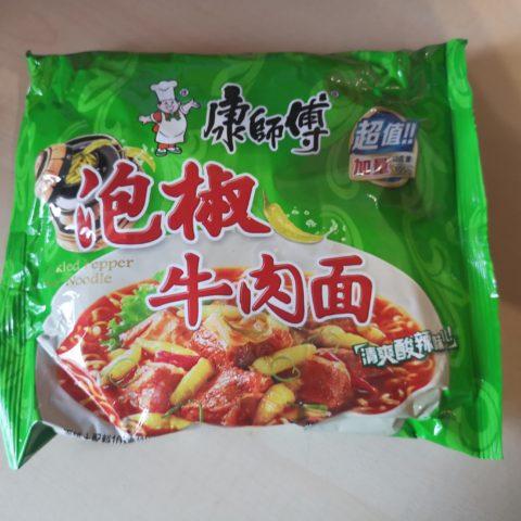 """#1640: Master Kong """"Pickled Pepper Beef Noodle"""""""