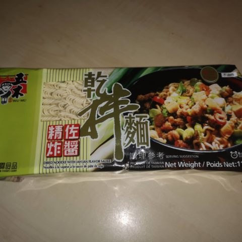 "#1644: Wu-Mu ""Dried Noodle with Jah Jan Flavor Sauce"""