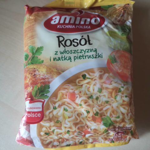 """#1664: amino Kuchnia Polska """"Rosół z włoszczyzną i natką pietruszki"""""""