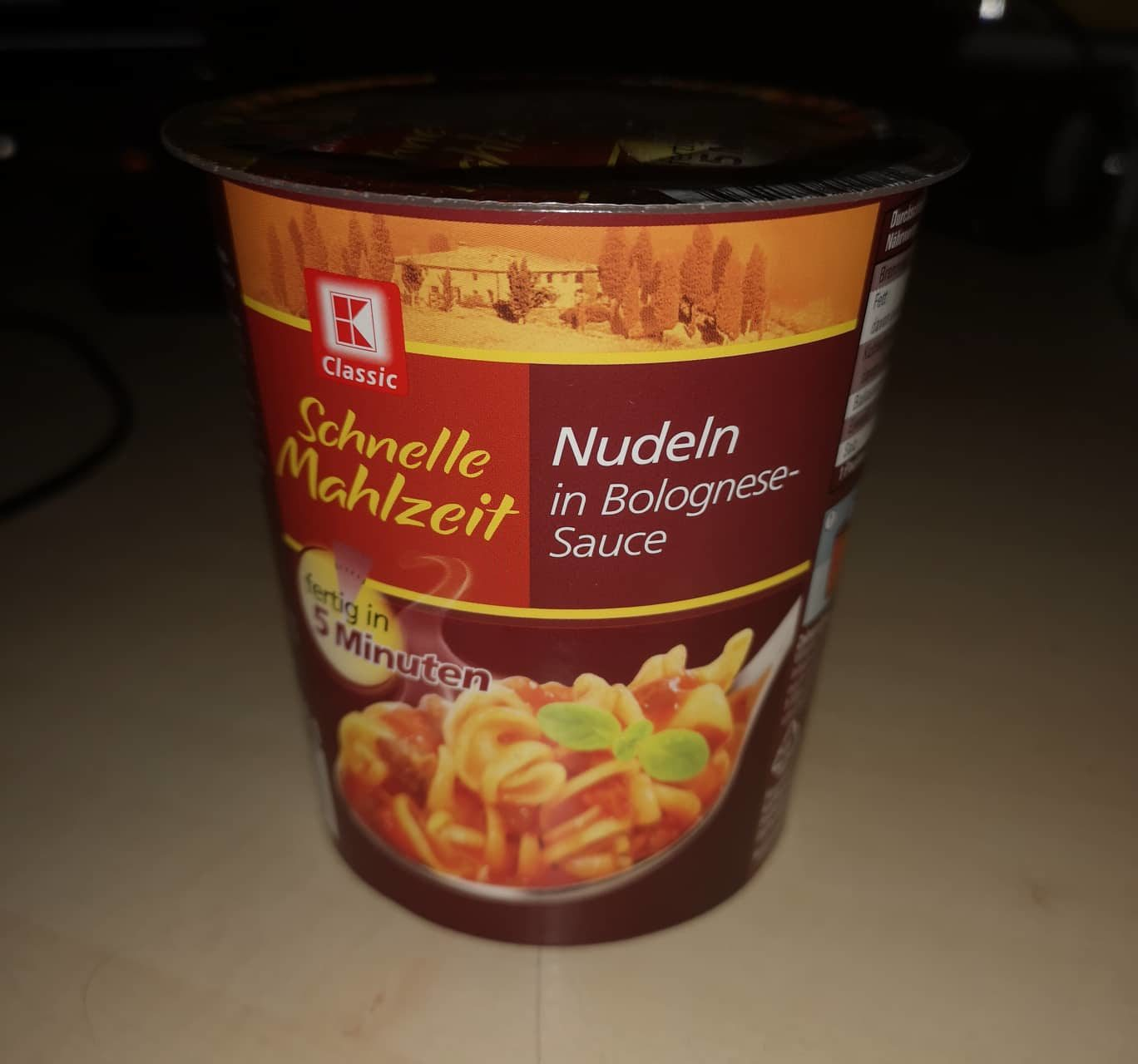 """#1649: K-Classic """"Schnelle Mahlzeit"""" Nudeln in Bolognese-Sauce (2019)"""