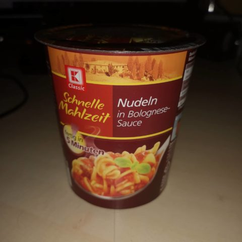 "#1649: K-Classic ""Schnelle Mahlzeit"" Nudeln in Bolognese-Sauce (2019)"