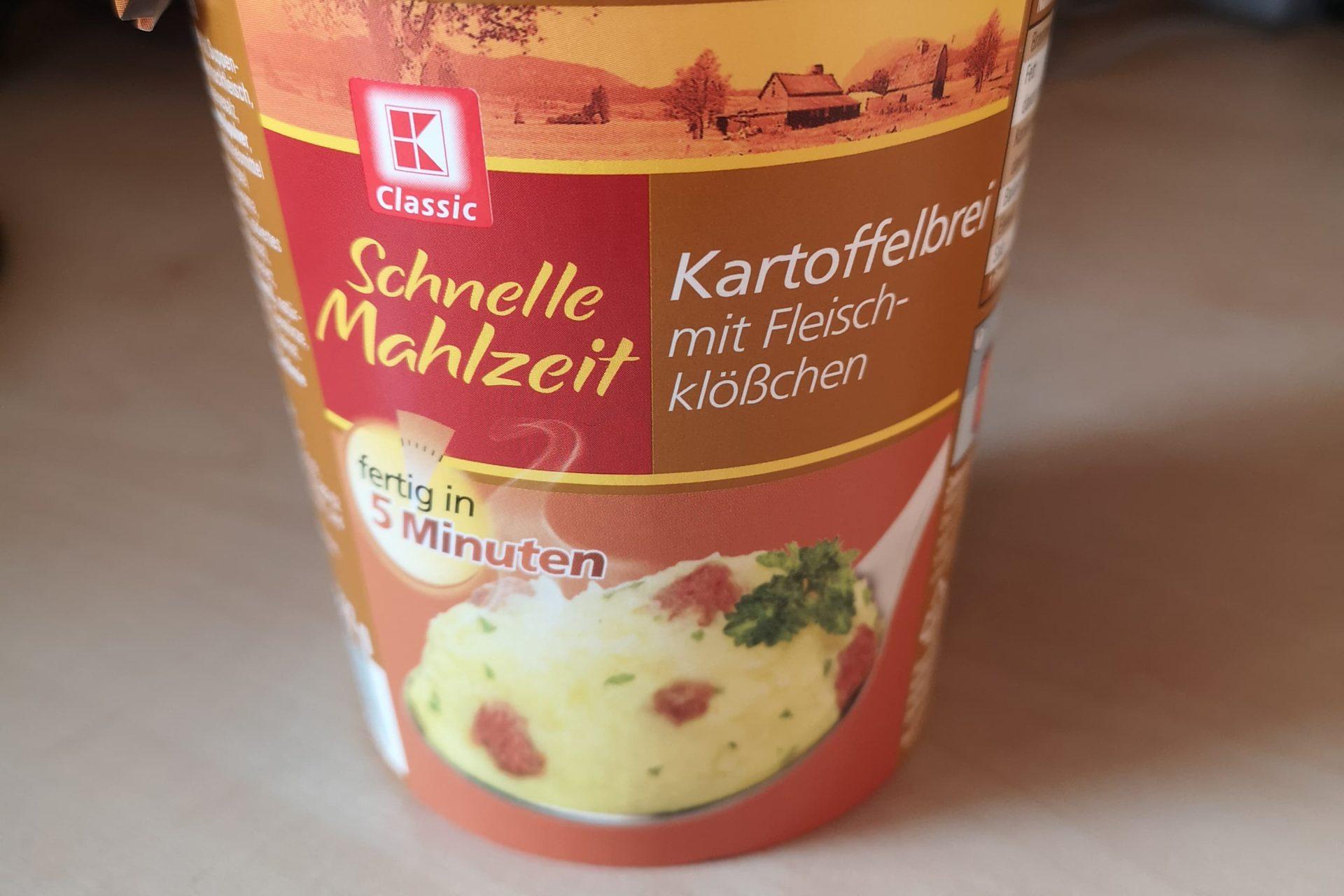 """#1689: K-Classic Schnelle Mahlzeit """"Kartoffelbrei mit Fleischklößchen"""" (2019)"""