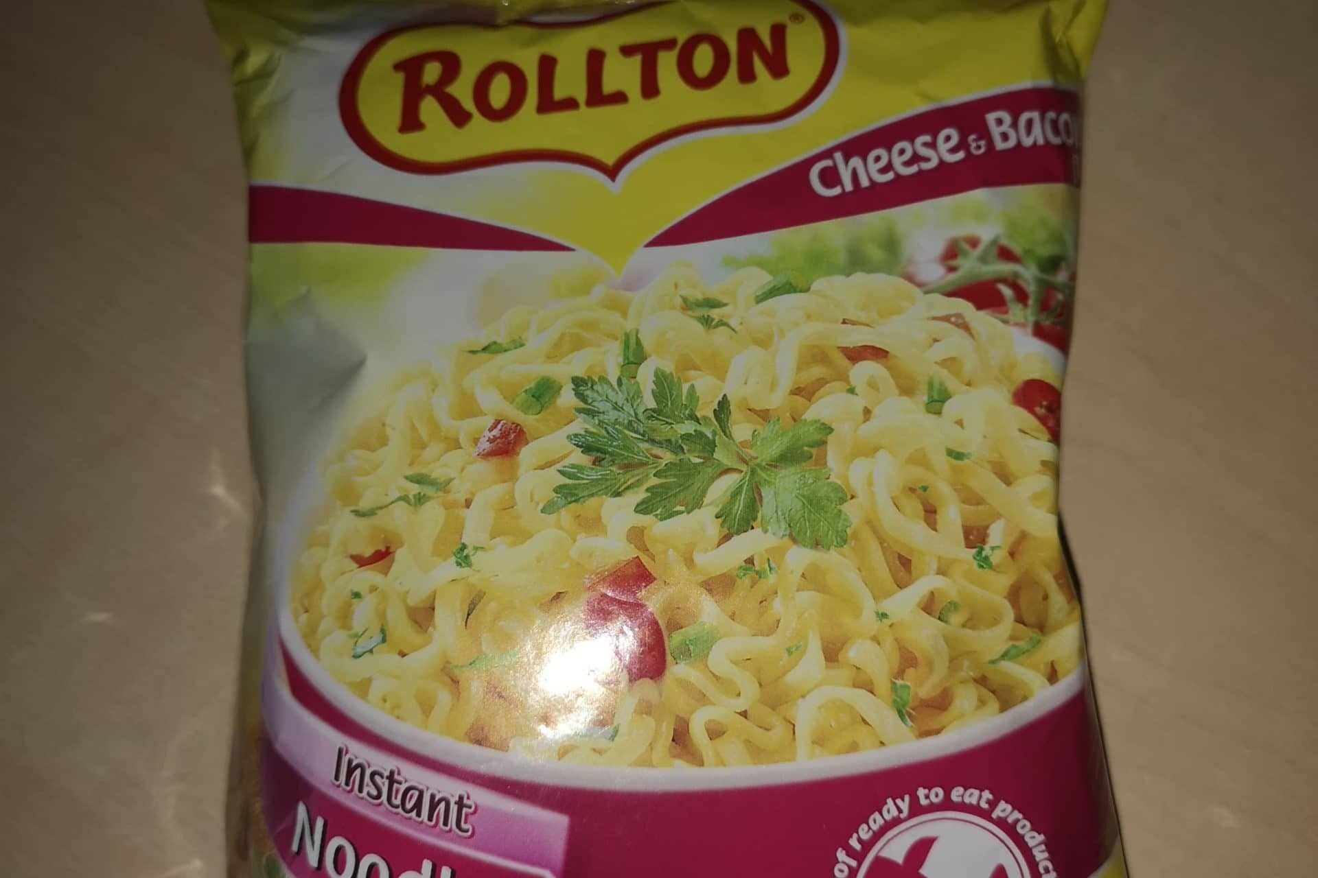"""#742: Rollton Instant Noodles """"Cheese & Bacon Flavour"""""""