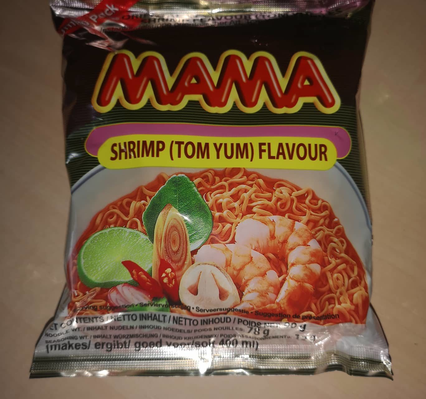 """#1687: Mama Oriental Style Instant Noodles """"Shrimp (Tom Yum) Flavour"""" (Jumbo Pack)"""
