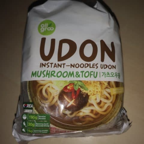 "#1696: all groo ""Udon Instant-Noodles Mushroom & Tofu"""
