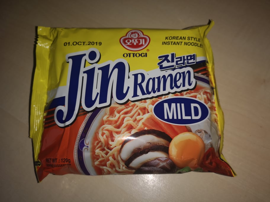"#1702: Ottogi Korean Style Instant Noodle! ""Jin Ramen Mild"" (Update 2021)"
