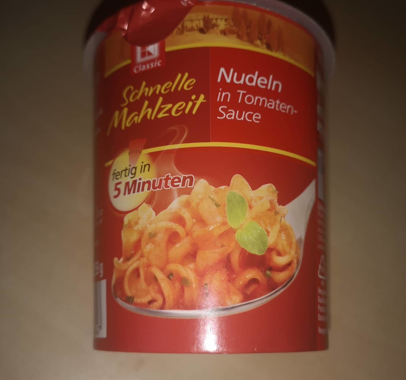 "#1706: K-Classic Schnelle Mahlzeit ""Nudeln in Tomaten-Sauce"" (2019)"