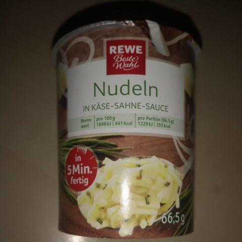 """#1732: REWE Beste Wahl """"Nudeln in Käse-Sahne-Sauce"""""""