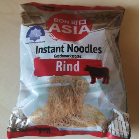 "#1735: Bon Asia Instant Noodles ""Geschmackssorte: Rind"""