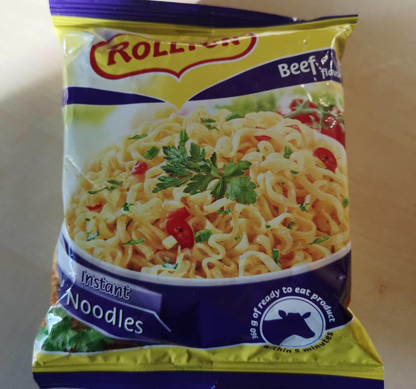 "#738: Rollton Instant Noodles ""Beef Flavour"""