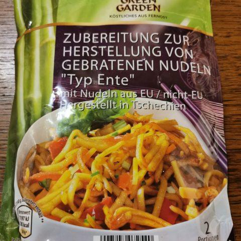 "#1993: Asia Green Garden ""Gebratene Nudeln Typ Ente"""