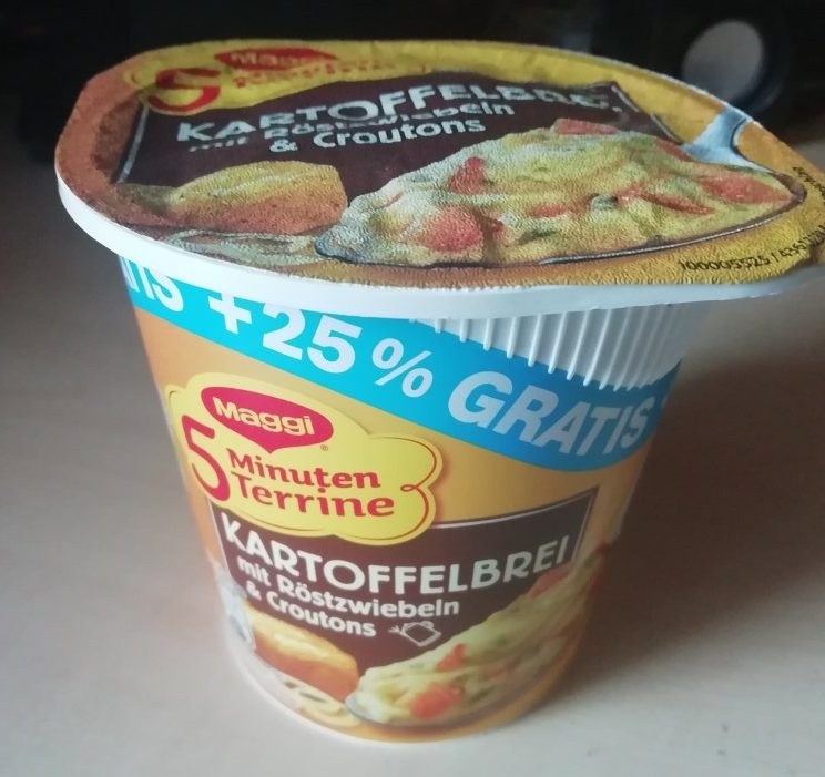 """#1539: Maggi 5 Minuten Terrine """"Kartoffelbrei mit Röstzwiebeln & Croutons"""" (+25 % Gratis)"""