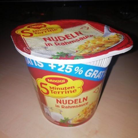 "#1554: Maggi 5 Minuten Terrine ""Nudeln in Rahmsauce"" (+25% Gratis)"