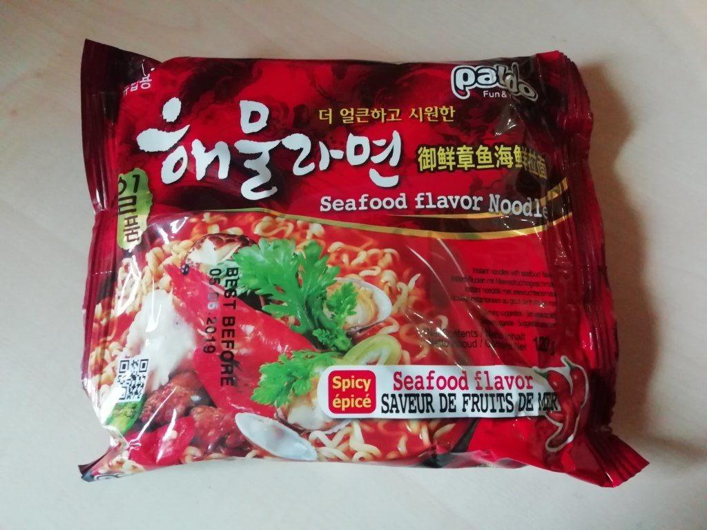 """#1571: Paldo """"Spicy Seafood Flavor Noodle"""""""