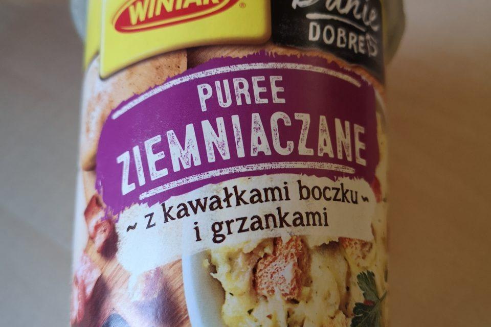 """#1852: Winiary Danie Dobre """"Puree Ziemniaczane z kawałkami boczku i grzankami"""""""