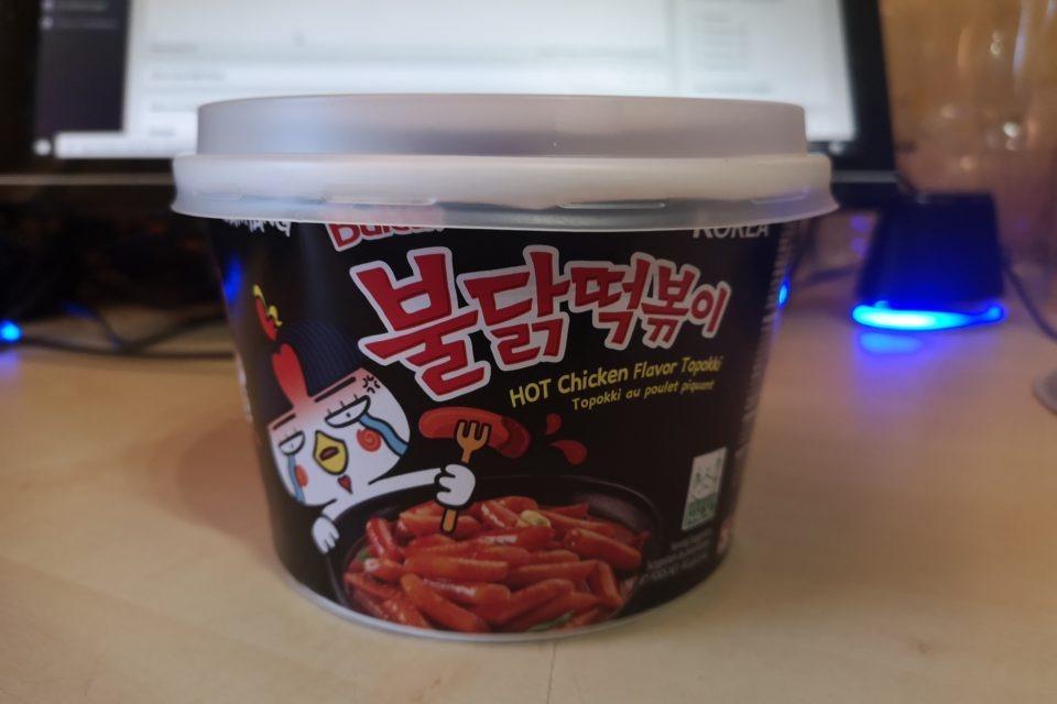 "#1853: Samyang ""Buldak Hot Chicken Flavor Topokki"" Bowl"