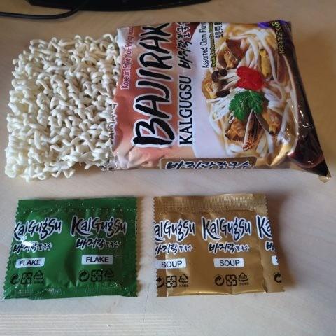 "#1858: Samyang ""Bajirak Kalgugsu"" Assorted Clam Flavor"