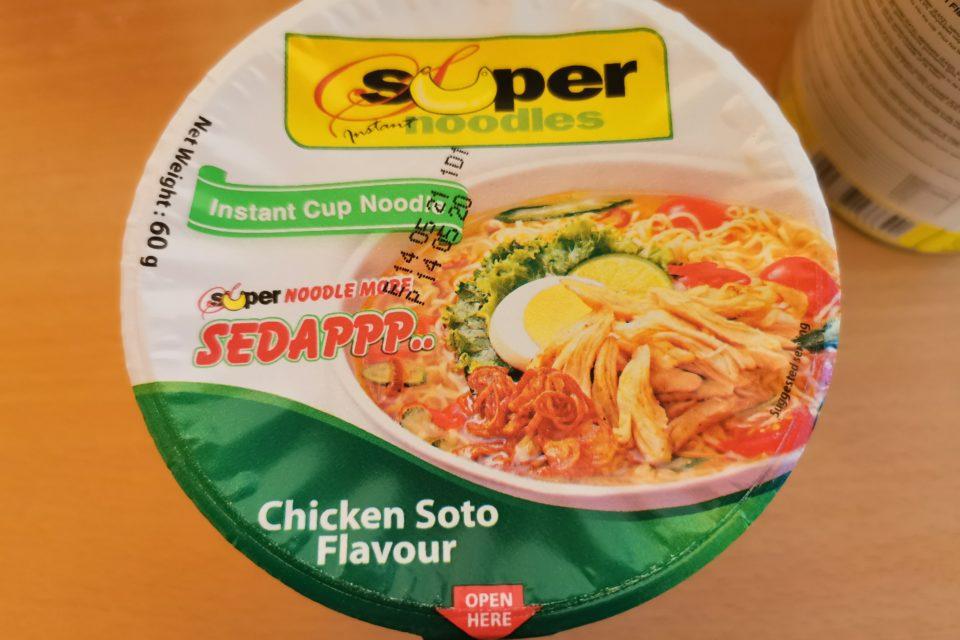"""#1870: Super Instant Noodles """"Instant Cup Noodle Chicken Soto Flavour"""""""