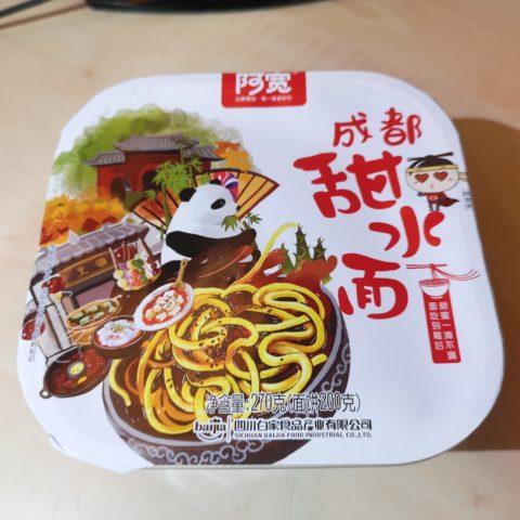 """#1894: Sichuan Baijia """"A-Kuang Chengdu Sweet Noodle"""" Bowl (Tian Shui Mian)"""