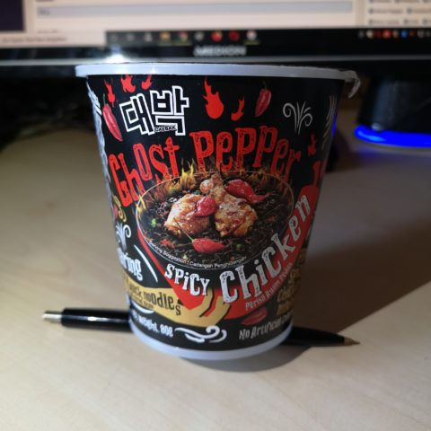 "#1952: Mamee ""Daebak Ghost Pepper Spicy Chicken Flavour Dry Black Cup Noodles"""