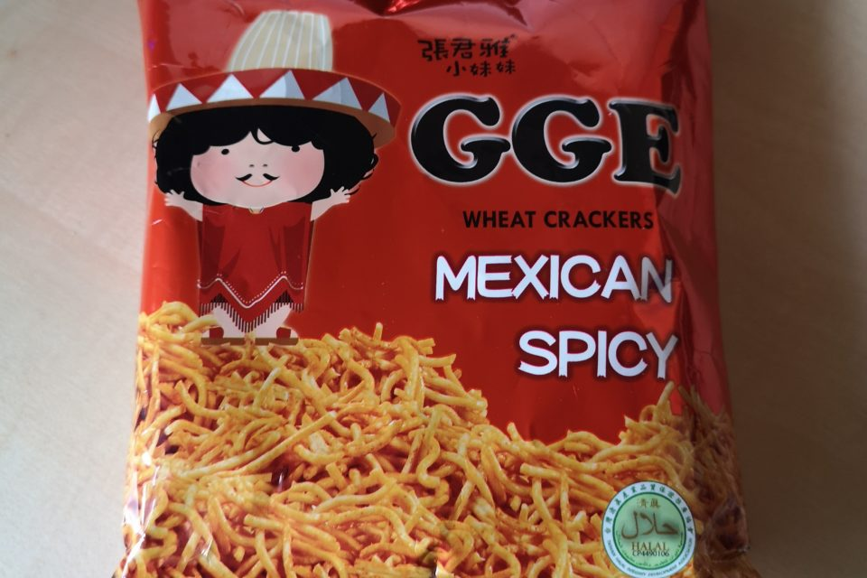 """#2073: Wei Lih """"GGE Wheat Crackers Mexican Spicy"""""""