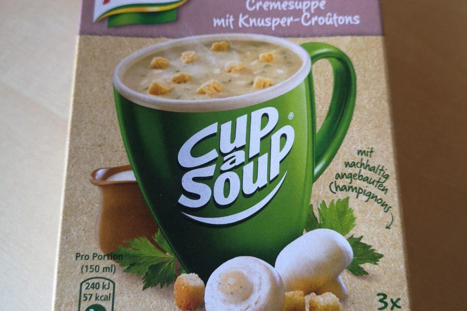 "#2081: Knorr Cup a Soup ""Champignon Cremesuppe mit Knusper-Croûtons"""