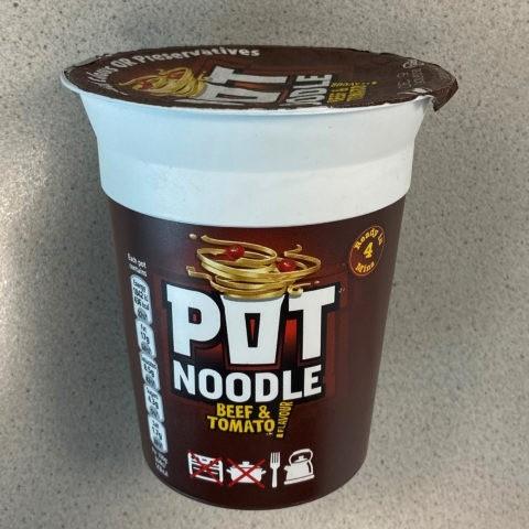 "#1672: Pot Noodle ""Beef & Tomato"""