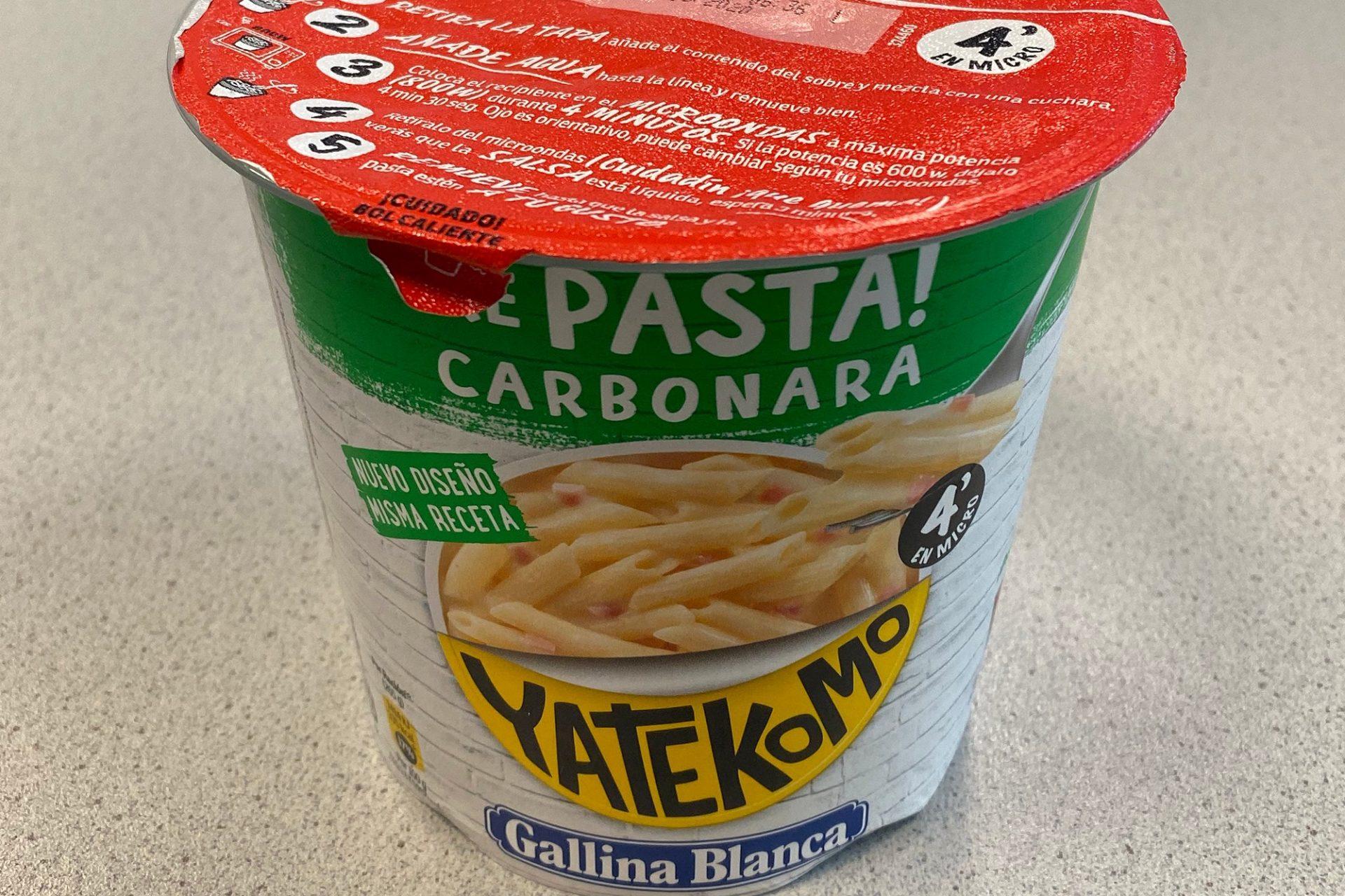"#1725: Yatekomo ""Macarones a la carbonara"""