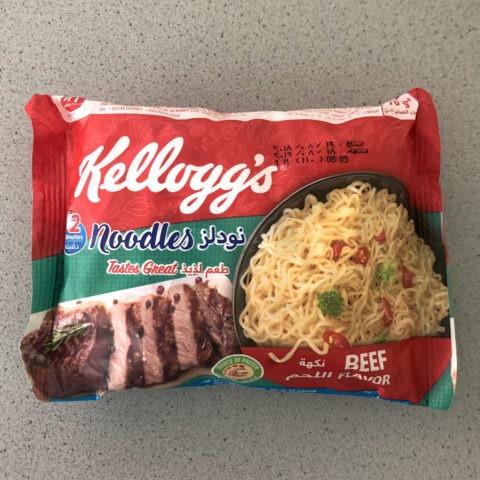 "#1626: Kellogg's Instant Fried Noodles ""Beef Flavor"""