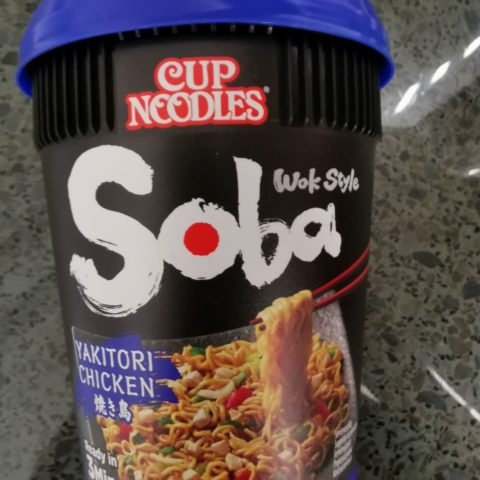 """#2076: Nissin """"Soba Yakitori Chicken"""" Cup Noodles Wok Style (2021)"""