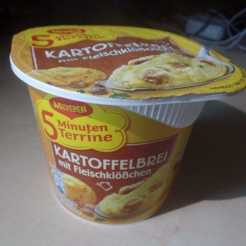 """#1516: Maggi 5 Minuten Terrine """"Kartoffelbrei mit Fleischklößchen"""" (2019)"""