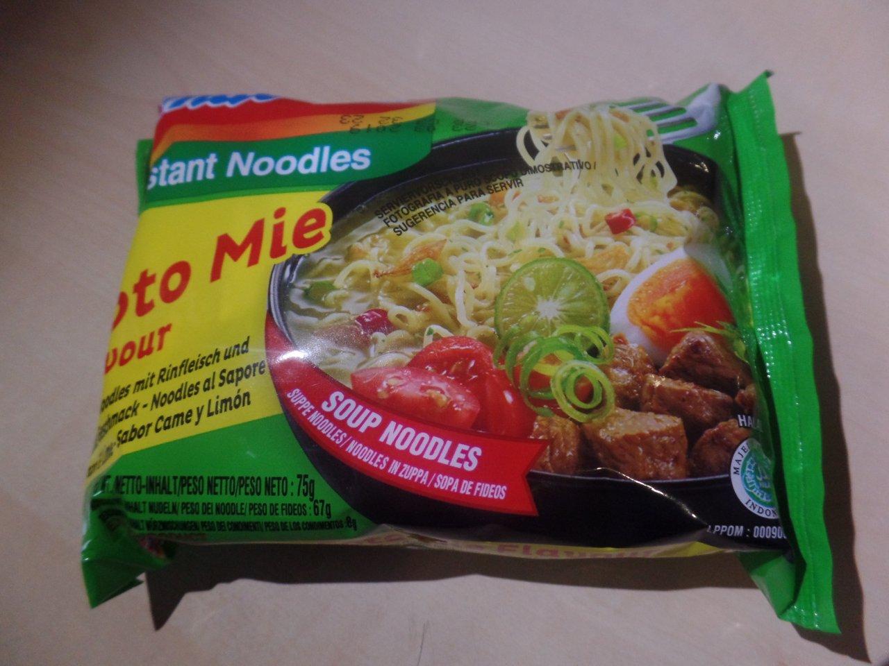 #1522: Indomie Soto Mie Flavour (Instant Noodles mit Rindfleisch und Limone Geschmack)
