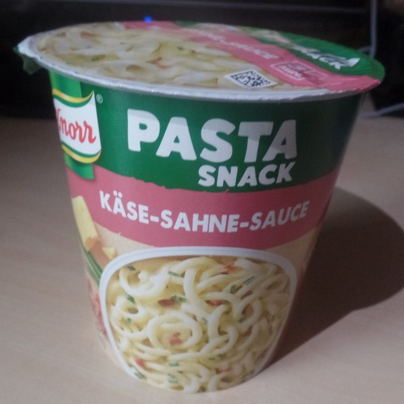 "#1524: Knorr Pasta Snack ""Käse-Sahne-Sauce"""