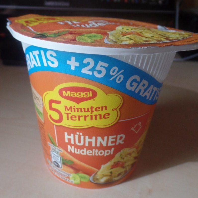 """#1528: Maggi 5 Minuten Terrine """"Hühner Nudeltopf"""" (+25 % Gratis)"""