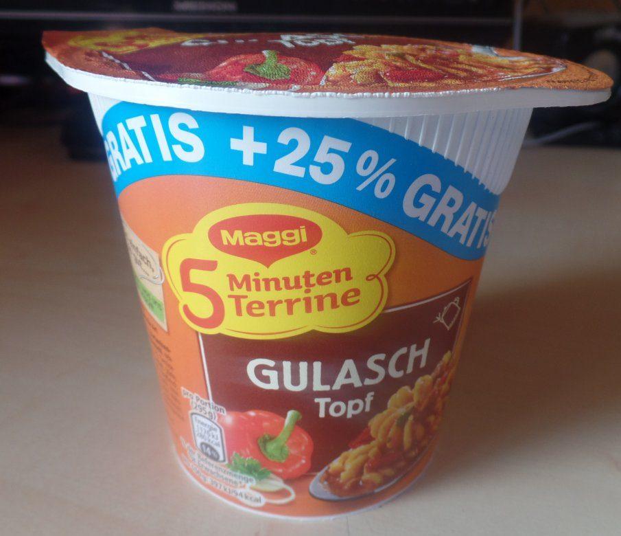 "#1529: Maggi 5 Minuten Terrine ""Gulasch Topf"" (+25 % Gratis)"
