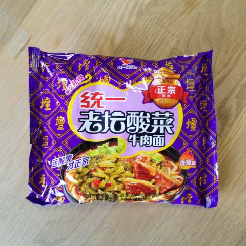 "#2118: Uni-President ""Pickled Cabbage Beef Noodle"""