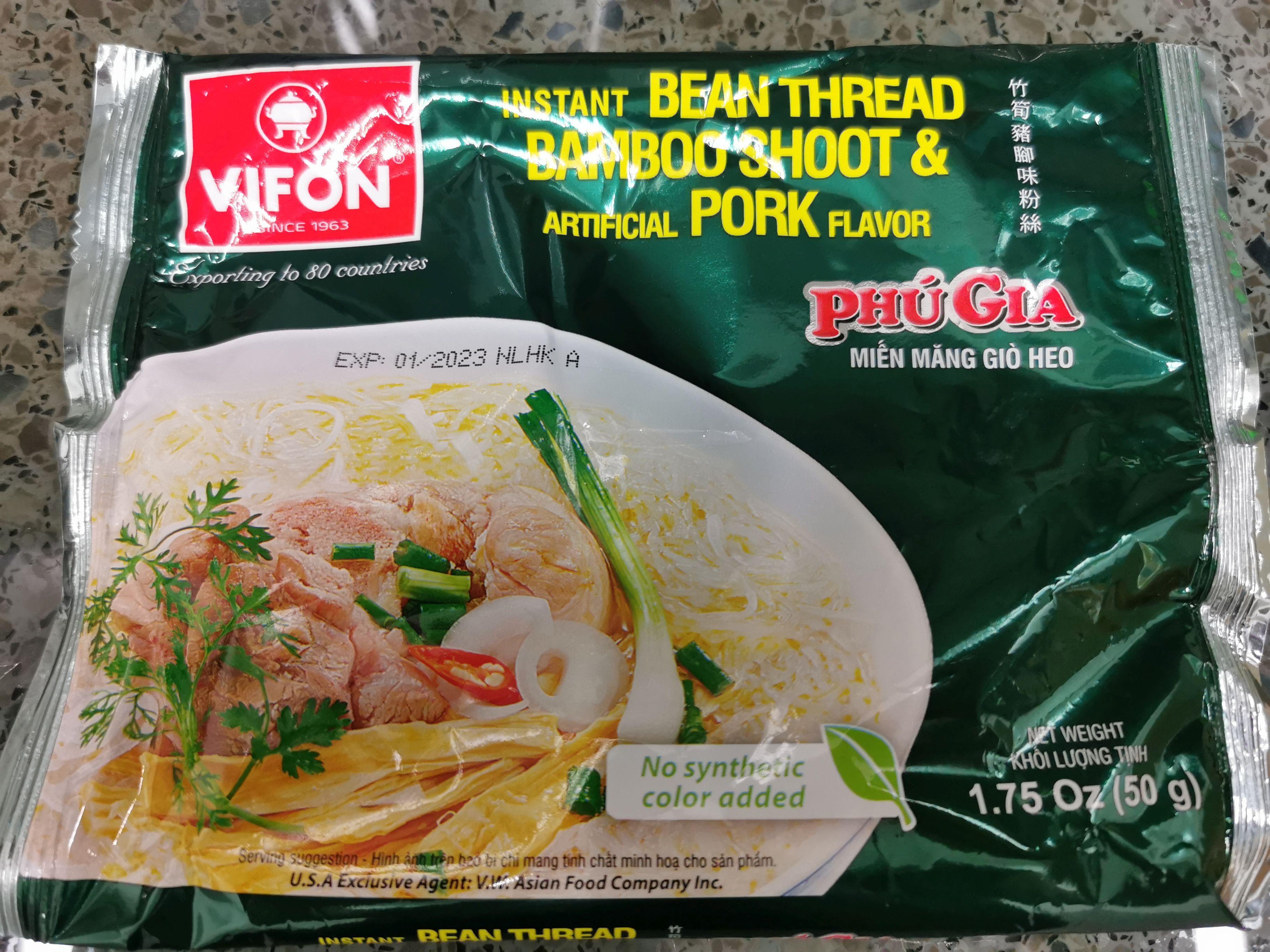 "#1765: Vifon ""Phư Gia Miên Măng Giơ Heo"" (Instant Bean Thread Bamboo Shoot & Artificial Pork Flavor)  (Update 2021)"