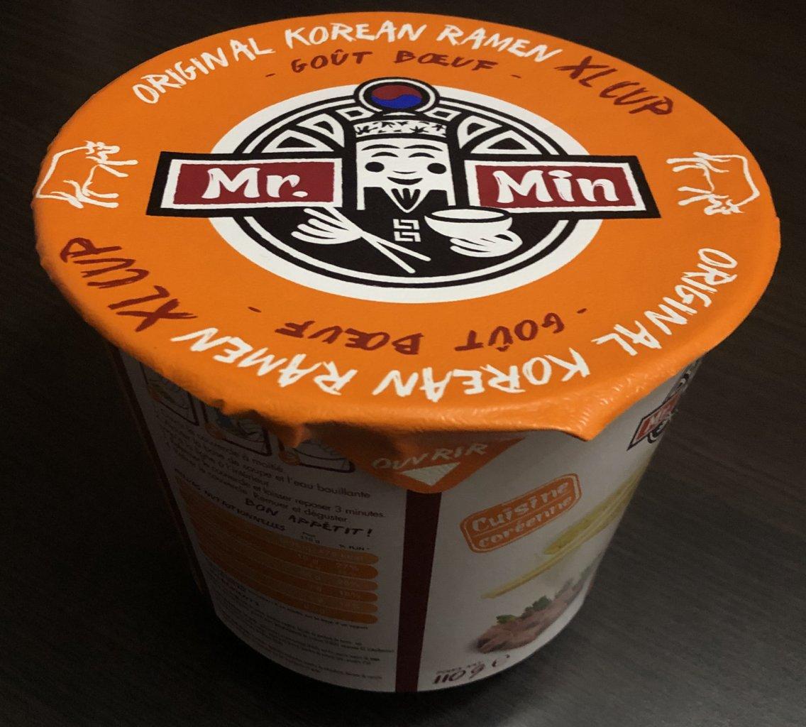 "#626: Mr. Min Original Korean Ramen Cup ""Goût Poulet"""