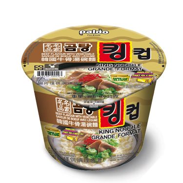 """#1517: Paldo King Noodle """"Beef Flavour with Vegetable"""" Bowl"""